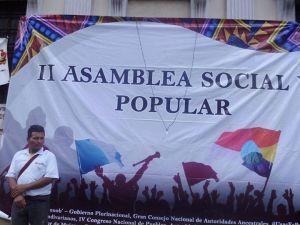 Frente al Congreso de Guatemala.