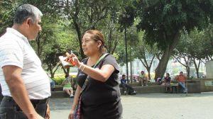 Actividad en Parque Central.
